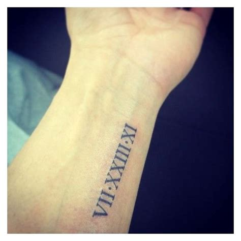roman numeral birthday tattoo image result for numerals on forearm my