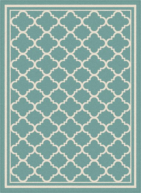 Tangier Outdoor Rug Garden City By Tayse Indoor Outdoor Area Rug Tangier Gct1009 Aqua