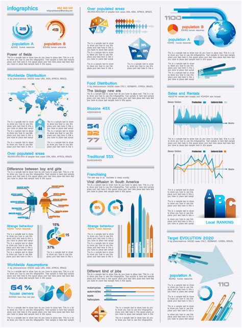 infographics and chart design elements vector set set of chart and infographics design elements vector 06