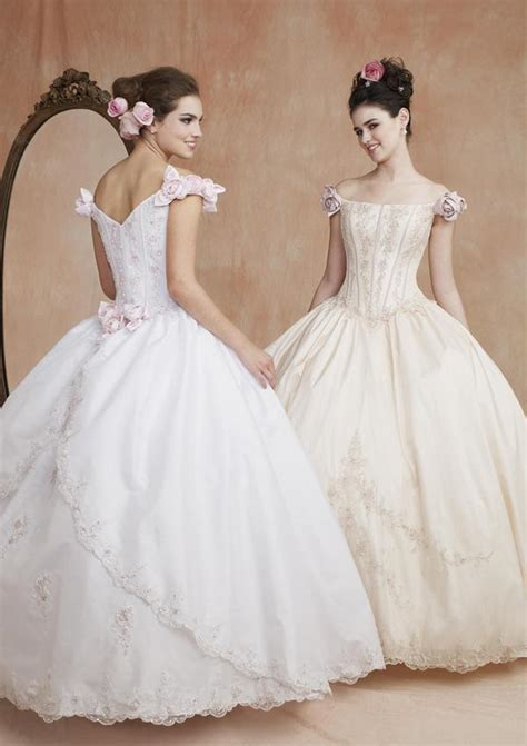 fairy tale style ball gown wedding dress