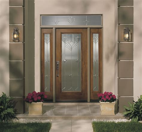 Exterior Fiberglass Doors With Sidelights Fiberglass Exterior Single Entry Doors With Transom Sidelights And Narrow Window For Modern