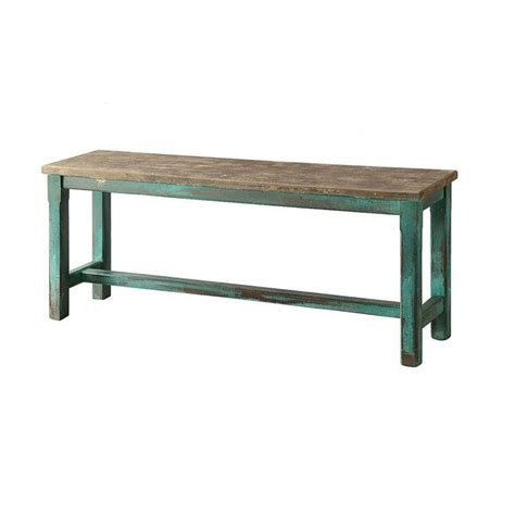 distressed benches turquoise distressed bench