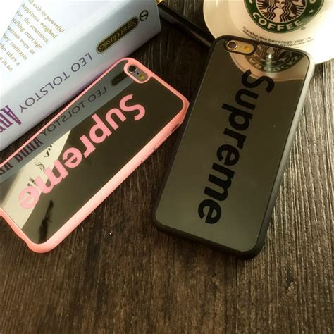Softcase Supreme Iphone 5 buy supreme plating mirror tpu for iphone 6 6s 5s se 7 7plus cases soft