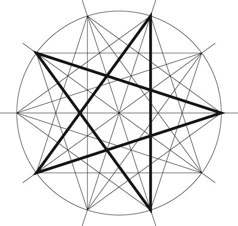 pattern for drawing a star pattern 5 school of islamic geometric design
