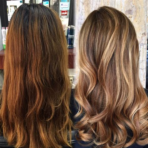 color before and after pictures before and after of color correction asian hair box dyed
