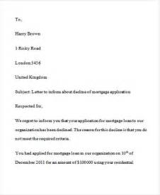 Mortgage Decline Letter Template Loan Rejection Letters 7 Free Sle Exle Format Free Premium Templates
