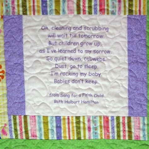 Baby Quilt Poem by 102 Best Images About Quilts Labels And Backings On