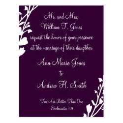 christian wedding invitation grape postcard zazzle