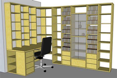 Plan Bureau D Angle by Fabrication Biblioth 232 Que Et Bureau D Angle Sur Mesure En Bois
