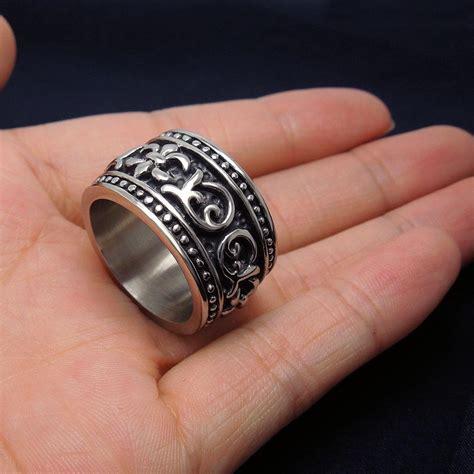 best mens biker rings for geometric siver ring
