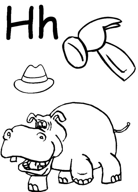 letter h coloring pages preschool preschool letter coloring pages coloring home