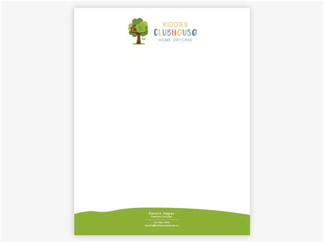 logo identity kiddies clubhouse daycare letterhead