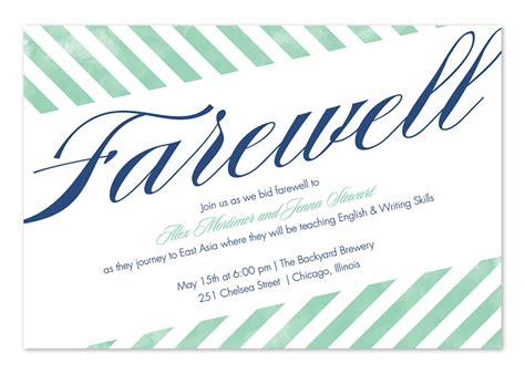 farewell lunch invitation email template farewell stripes invitations by invitation