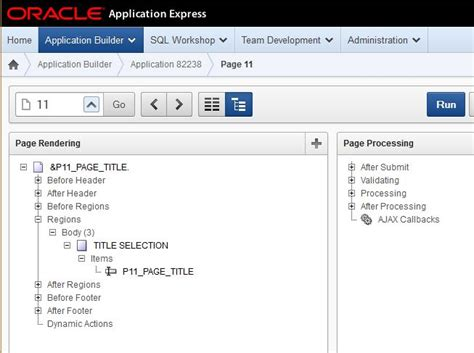 Title Application Meaning Change Page Title Based On Item In Oracle Apex 4 0 Stack