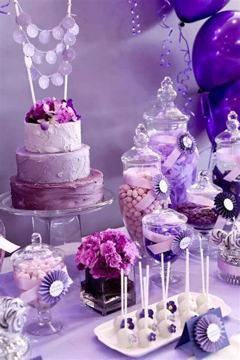 purple pink theme bridal wedding shower party ideas 1000 images about dessert table inspirations 1 on