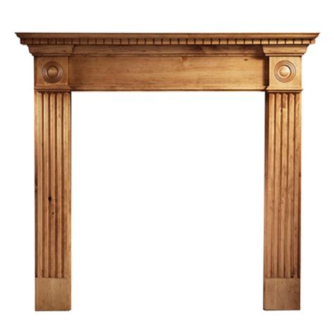 wood fireplace surround kits with pine wooden