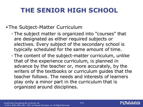 pattern of curriculum organization developing the curriculum chapter 9