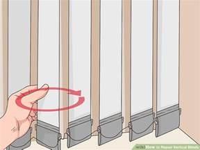 vertical blind repair 3 ways to repair vertical blinds wikihow