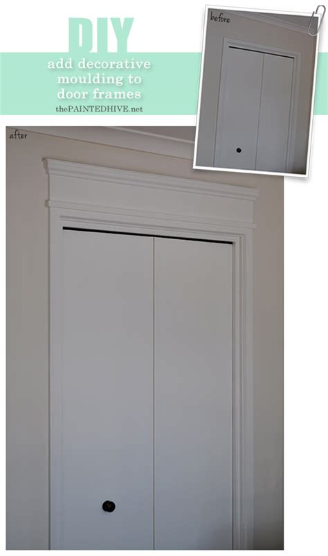 Add Moulding To Door by The Painted Hive How To Add Decorative Trim To Door Frames