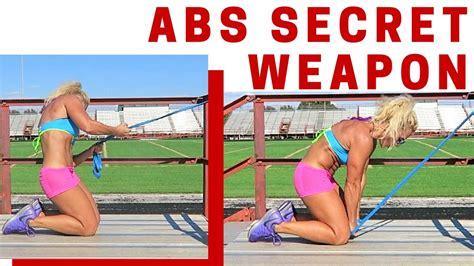 intense abs workout  resistance band flat stomach