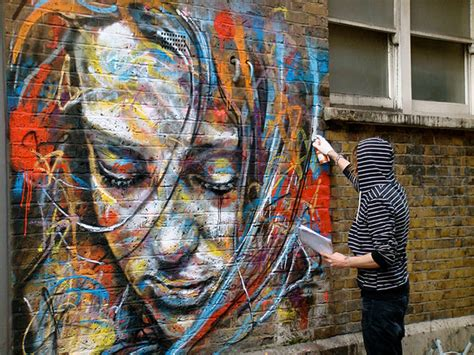 wall spray painting designs the explosively colorful spray paint portraits of david