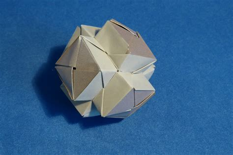 modular origami spiky balls and stellated polyhedra