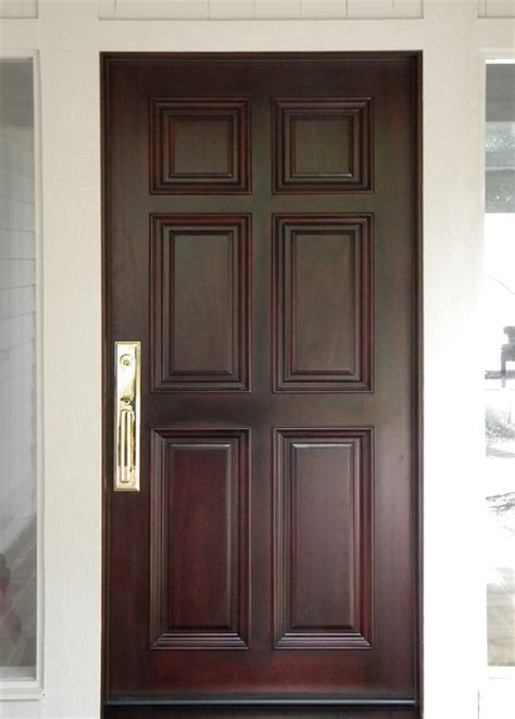 6 panel exterior doors 6 panel front entry door in mahogany traditional front