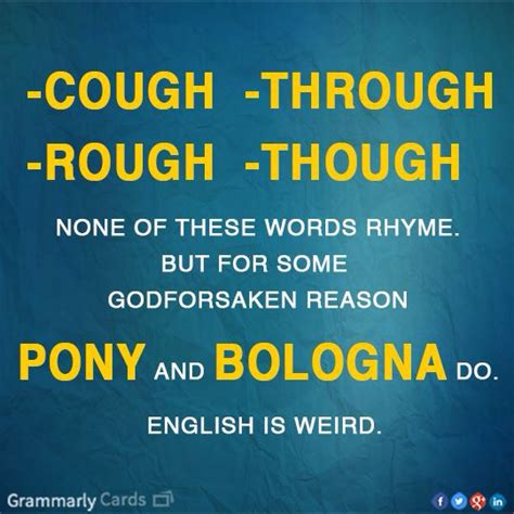 English Language Meme - english is weird pictures photos and images for facebook