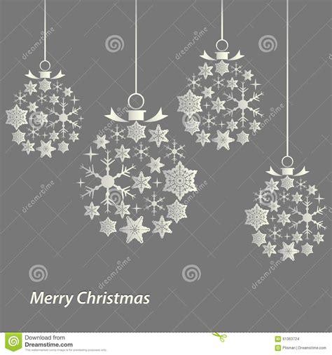 plantilla copos navidad tarjeta de navidad con las bolas de la plantilla de los