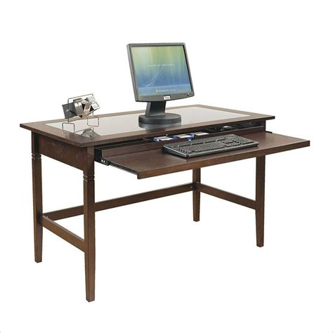 espresso office desk commercial computer desks home office computer desk at