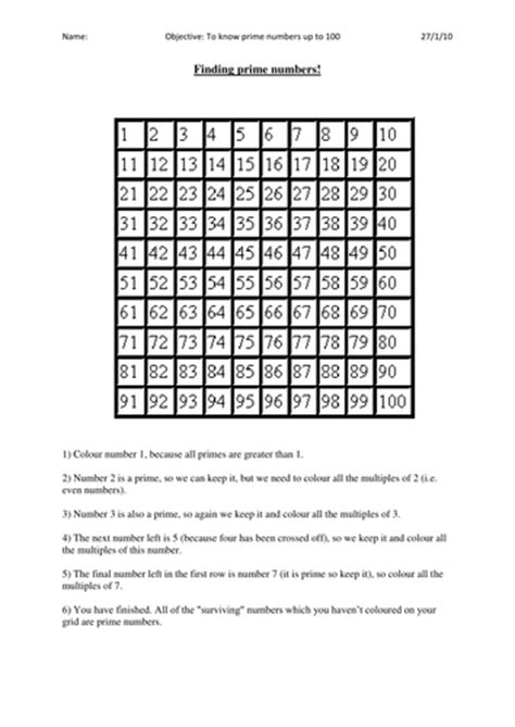 discovering prime numbers teaching resources