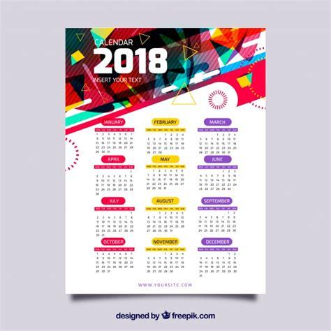 delaware design lab calendar calendario 2018 abstracto de colores descargar vectores