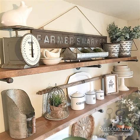 kitchen shelves decorating ideas 26 best farmhouse shelf decor ideas and designs for 2018