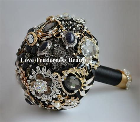 Bouquets For Sale by Sale 7 Quot Black Brooch Bouquet Black And Gold Silver