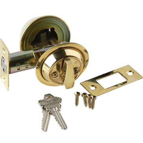 Door Knob Backset by Brass Accents Single Cylinder Deadbolt 2 Inch Backset