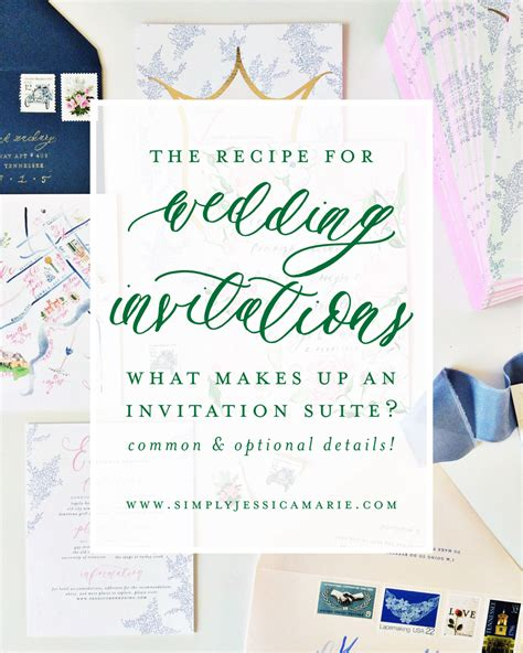 what in a wedding invitation suite the recipe for a wedding invitation suite simply