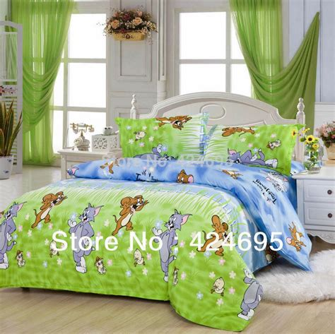 Tom And Jerry Bedding Set Wholesale Tom And Jerry Pattern Bedding Sets Luxury Include Duvet Cover Bed Sheet Pillowcase