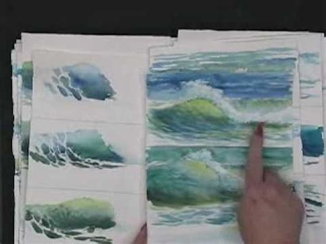 watercolor waves tutorial painting waves in watercolor hints and tips by susie