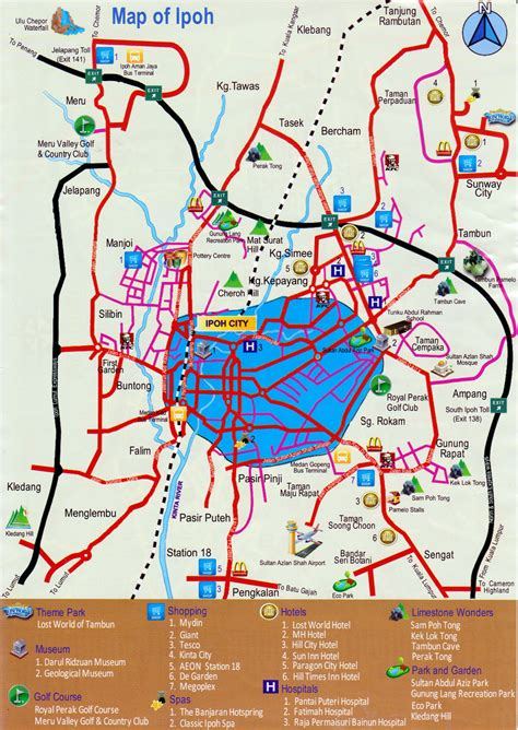 map of city of ipoh city map
