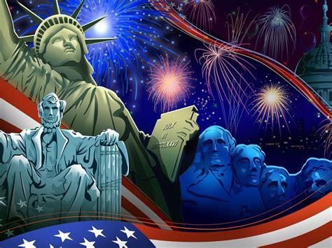 united states independence day  july statue  liberty