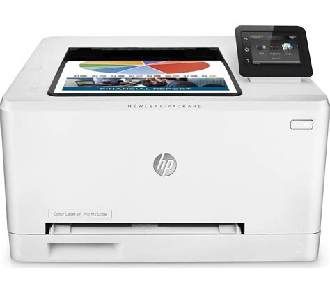 Printer Laserjet Wifi hp colour laserjet pro m252dw wireless laser printer deals pc world