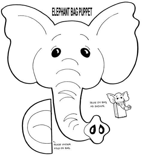 printable paper elephants free muppet puppet patterns to print elephant puppet