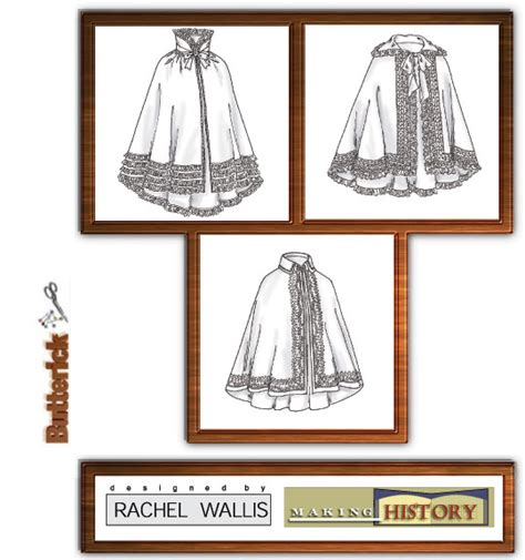 historical pattern review butterick 4419 cape historic