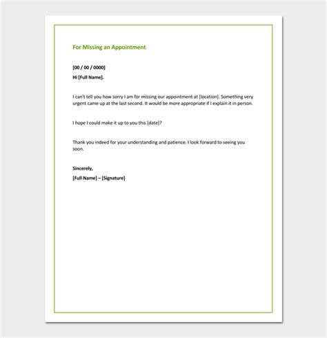 apology letter for missing apology letter template 33 sles exles formats