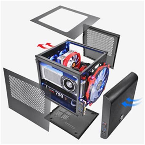 Segotep Mini Tt Cube Black White Side Window Usb 3 0 thermaltake v1 mini itx cube chassis