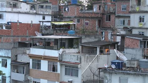 view of apartment buildings in the poor area of brazil stock footage 6514313