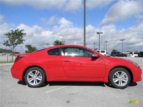 red nissan altima 2012 red alert nissan altima 2 5 s coupe 57873244 photo
