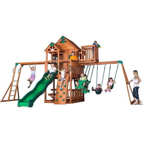skyfort sam s club skyfort ii cedar swing set play set