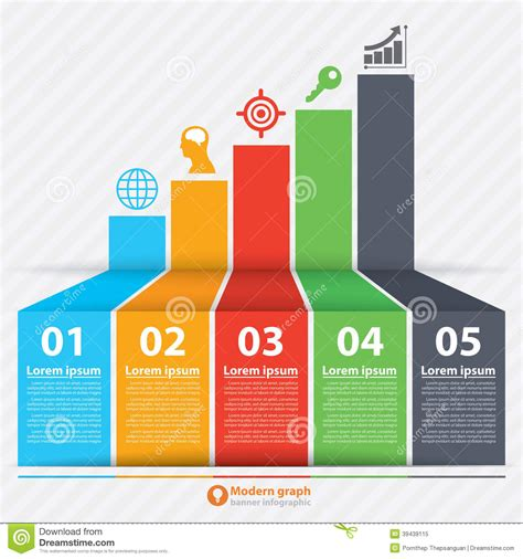 modern template report design table graph modern graph banner infographic stock vector image 39439115