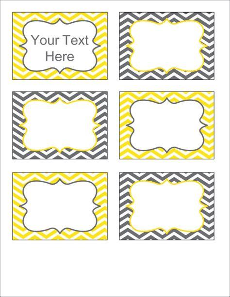 printable labels yellow gray and yellow chevron labels printable pdf editable
